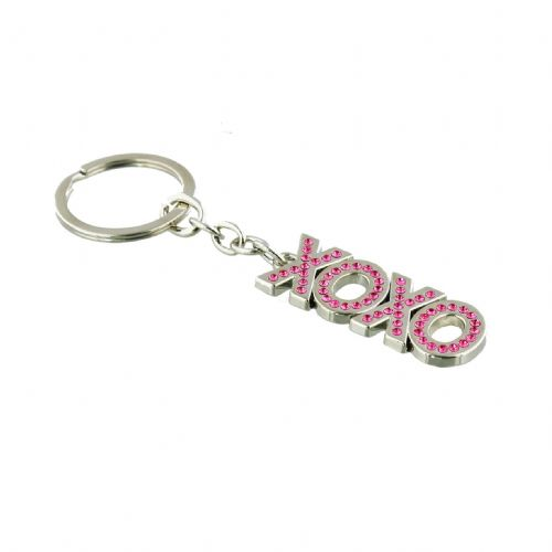 Crystal Key Chain or Bag Charm - Ladies XOXO stocking filler and table gift